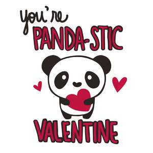 you're panda-stic valentine