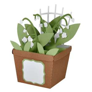 lily of the valley pot card in a box