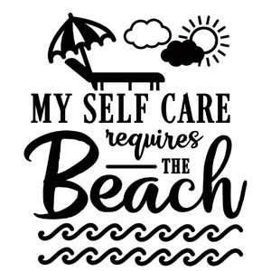 self care requires beach