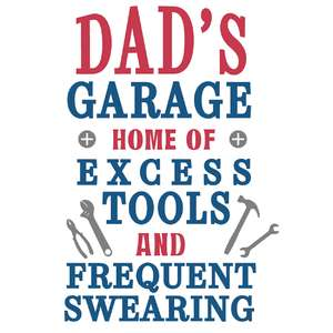 dad's garage tools & swearing