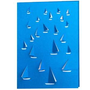 sailing boat 3d card