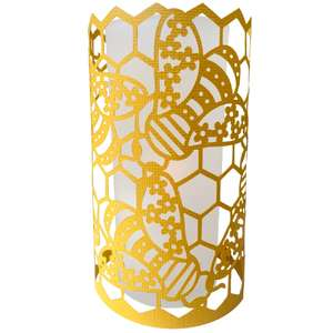 floral bees honeycomb lantern