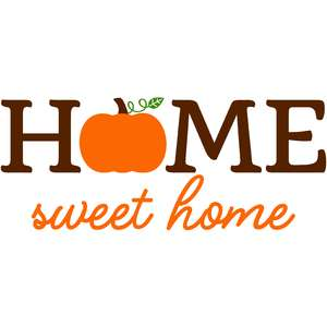 pumpkin home sweet home sign