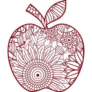 fall apple zentangle