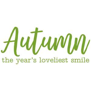 autumn the year's loveliest smile