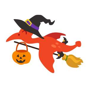 halloween pterodactyl witch