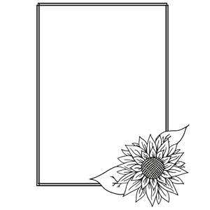 sunflower rectangular sketch frame