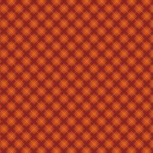 orange fall plaid pattern