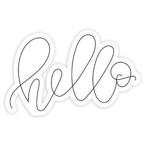 hello sketch handlettered