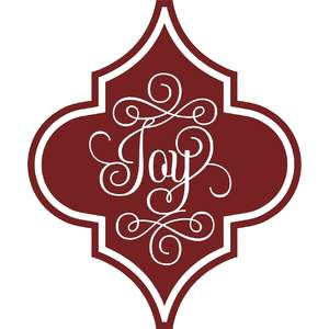 joy arabesque christmas ornament