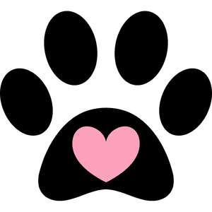 paw with heart