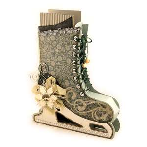 ice skate 3d boot gift container