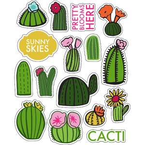 ml pretty blooms cacti stickers