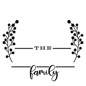 family name rounded template