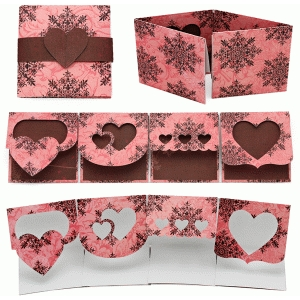 card varied flap valentine
