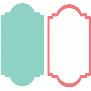 shape and frame set - fancy label