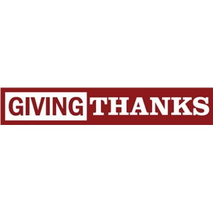phrase: giving thanks