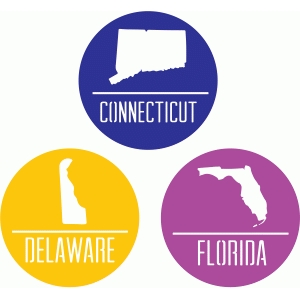 state badges - ct de fl