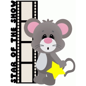 star of the show title mouse with film strip