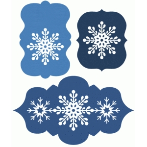 3 layered snowflake labels