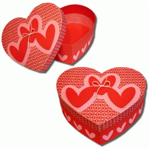 3d heart cutout heart box
