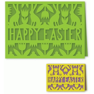 happy easter folded card