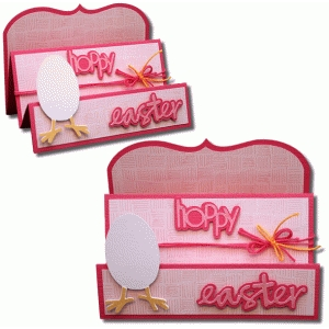 hoppy easter trifold card