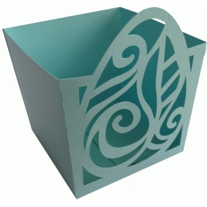 easter egg leaf candy box