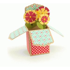 a2 box card: flowers