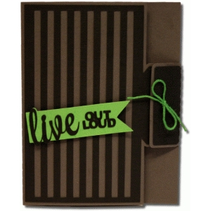 a2 live out loud striped tie card