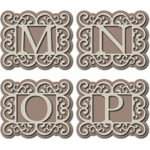 flourish monogram mnop