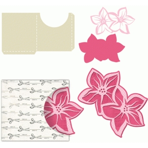 flower tag with sleeve