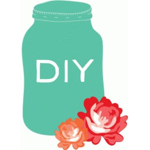 diy jar & flowers