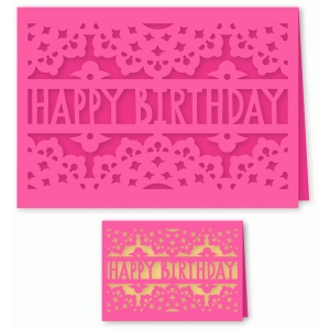 ornate happy birthday card 5 x 7