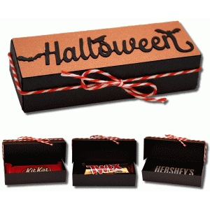 3d halloween snack size candy bar box