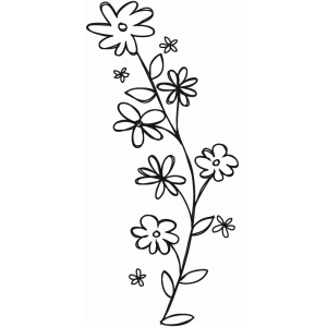 flower vine sketch