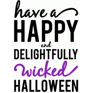 have a happy halloween phrase
