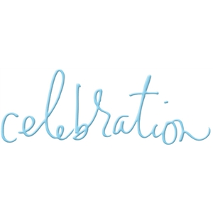 celebration handwritten word