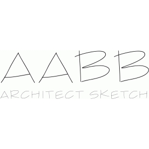 architect sketch font