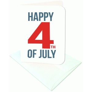 happy 4th of july a2 card