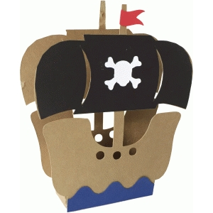 pirate ship gift box