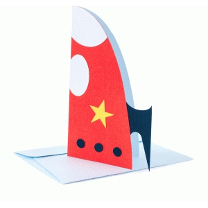 spaceship folded card