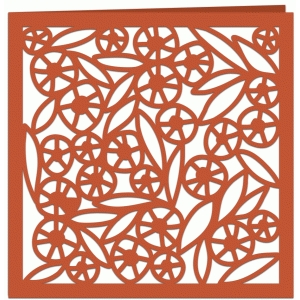 summer hedgerow filigree greetings card