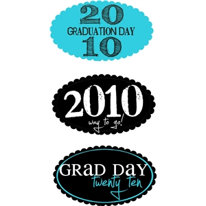 grad day tags/labels