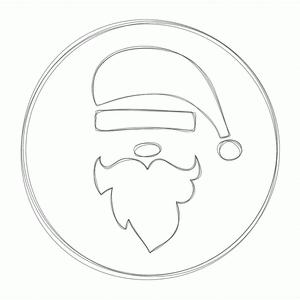 santa sketch label