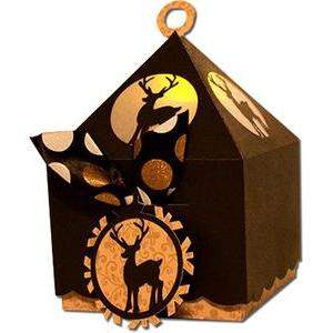 reindeer lantern top cookie box (flameless)