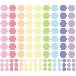 pastel hexagons