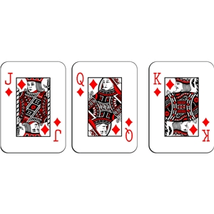playing cards - diamonds royalty