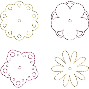 stitching templates - flowers 1