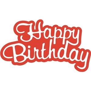 silhouette design store view design 13614 happy birthday word